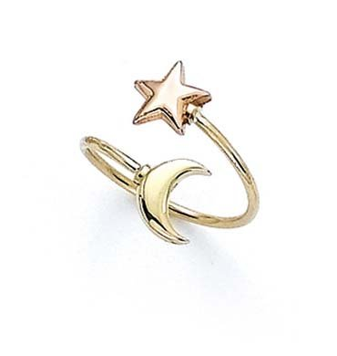 ar Moon Toe Ring (Two Tone Toe Ring)