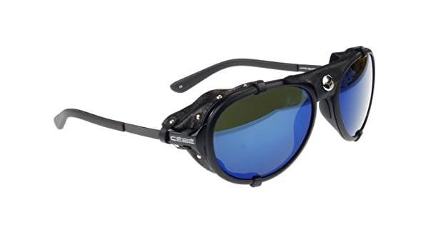 Cébé Lhotse Gafas de sol, Mate Negro, Cuero Negro ...