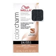 (WELLA COLOR CHARM Permanent Black Liquid Hair HC-L051/1N)