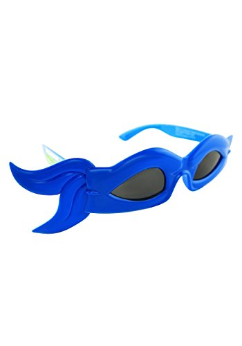 Blue Ninja Turtle Halloween Costume (Sunstaches TMNT Bandana Glasses, Blue Officially Licensed Sunglasses)