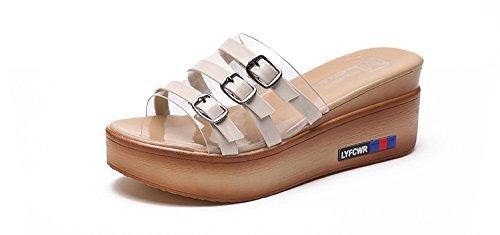 di piedi yalanshop spesso che di fondo donna gradiente di scarpe sorta con una mostra white Muffin donna T1Bx7OTw