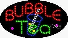 Made in USA Bubble Tea2 LED Sign 15 x 27 x 1 inches
