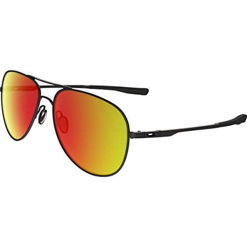 Oakley Elmont M and L Non-Polarized Iridium Aviator Sunglasses, Satin Black, 58 - Aviator Sunglasses Oakley Womens