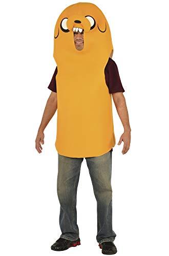 Jake And Finn Halloween Costumes (Rubie's Men's Adventure Time Jake Costume, Yellow,)