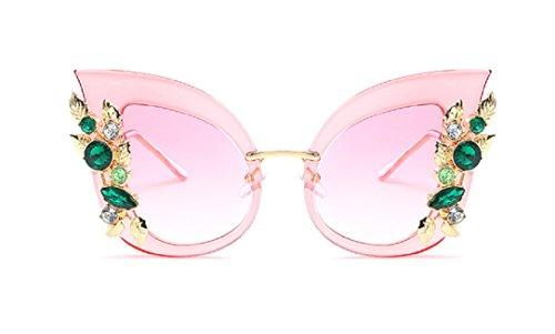 YABINA Luxury Sunglasses Women Inlaid Rhinestone Retro Sun glasses - Luxury Sunglasses Women For