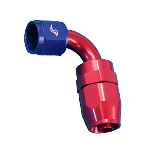 Red//Blue 90 Degree Roadrunner Performance AN04-04FJ90RB Full Flow Swivel Hose Fitting 4