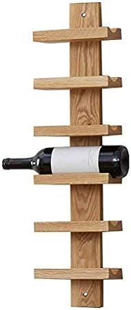 Estantería de vino Estante del vino vino de madera del estante de la barra casera colgante de pared de la botella de vino en rack cocina for guardar pared estante de la barra flotante estante de múlti