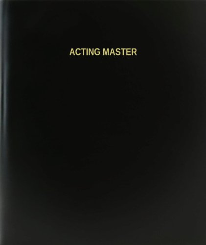 BookFactory® Acting Master Log Book / Journal / Logbook - 120 Page, 8.5