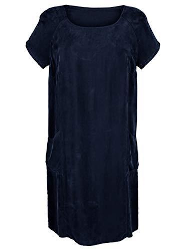 Moda Damen White Tunikakleid Cupro Alba aus Softer Marineblau Qualität fwdRyqx