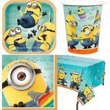 Despicable Me Party Supplies (1 X Despicable Me 2 Party Supplies Pack Including Plates, Cups, Napkins and Tablecover - 16 Guests)