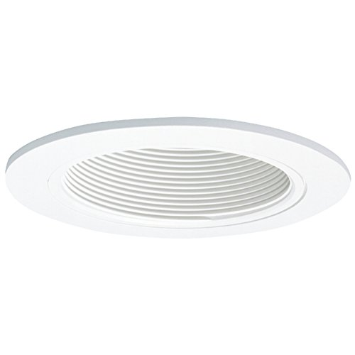 Halo 993W, 4'' Trim Coilex Baffle White Trim with White Baffle by Halo