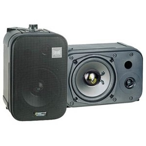 Pyle PDMN48 5'' Two-Way Bass Reflex Mini-Monitor and Bookshelf/wall mount Speakers by Pyle