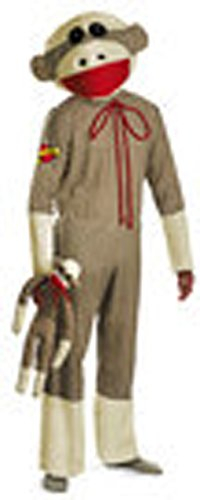 Adult Size Sock Monkey Costume - XL fits Chest Size -
