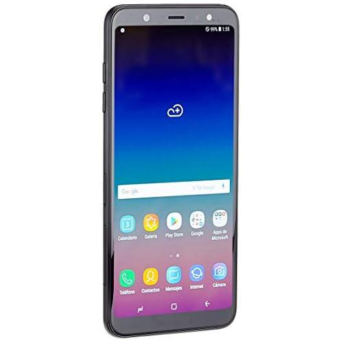 chollos oferta descuentos barato Samsung Galaxy A6 Plus Smartphone libre Android 8 0 6 FHD Dual SIM Cámara Trasera 16MP 5MP Flash 3 nivles y Frontal 24MP Flash Negro 32 GB 6 Versión española