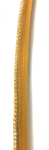 Metalic Gold / Mustard Cord-edge Piping Trim for Clothing Pillows, Lamps, Draperies 5 Yards Pi-129 - Gold Black Cord