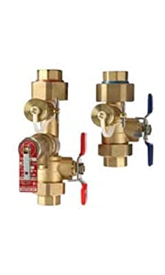 "Noritz Lead Free 3/4"" Sweat Isolation Valve Kit w/ Male 500,000 Btu Pressure Relief Valve"