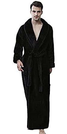 Dressing Gown Winter Long Luxury Flannel Bathrobe for Couples Women Men Bathingsuit Plush Soft Full Length Nightwear Spa Resort Robe Kimono Sleepsuit Romper Loungewear Homecoat Pajama Set