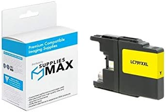 1200 Page Yield LC-1280XXLY SuppliesMAX Compatible Replacement for Brother MFC-J5910//J6510//J6710//J6910DW Yellow Inkjet