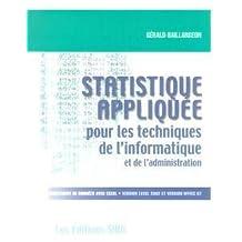 Statistique appliquée pour les techniques de l'informatique et de l'administration : Traitement de données avec Excel version 10 (Excel 2002), version 8.0 (Office 97)