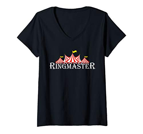 Womens Ringmaster TShirt Funny Circus Halloween Costumes Tee V-Neck T-Shirt -