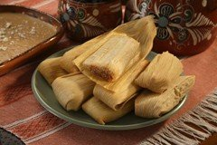 Del Real Foods Gourmet Pork Tamales In Red Sauce by Del Real