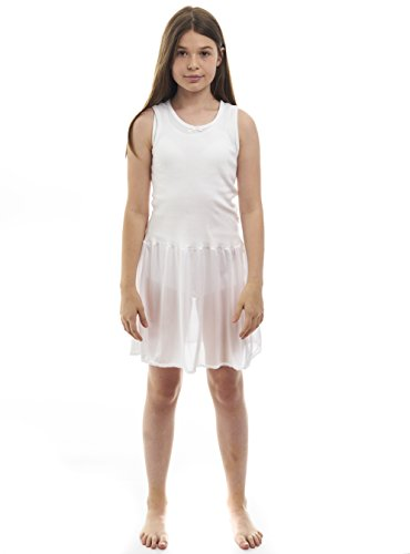Rossette Sleeveless Full Slip for Girls – Cling Free - Cotton / Nylon Material, White, 6 by Rossette (Image #3)