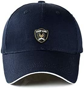 Outdoor sport sunshade baseball cap popular Korea stylish peaked cap for men navy blue BH04-3