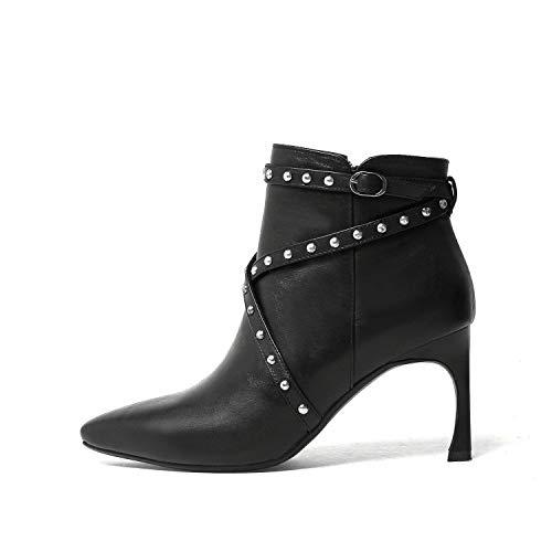 Stiletto Femme Courtes Bottines Pointus Talons Black pour à wT4xfPAqH
