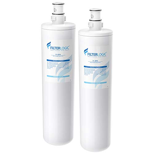 Filterlogic 3US-PF01 Under Sink Water Filter, Replacement for Filtrete Advanced 3US-PF01, 3US-MAX-F01H, 3US-PF01H, Delta RP78702, Manitowoc K-00337, K-00338 (Pack of 2)