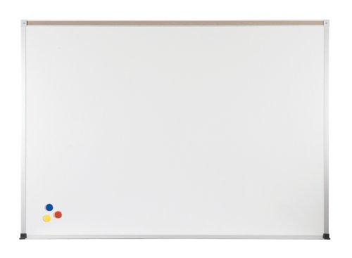 ABC Magnetic Wall Mounted Whiteboard Map Rail: With Map Rail, Size: 4' x 10' by Best-Rite