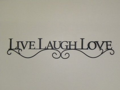 (New Inspirational LIVE LAUGH LOVE Black Metal Wall Decor Sign)