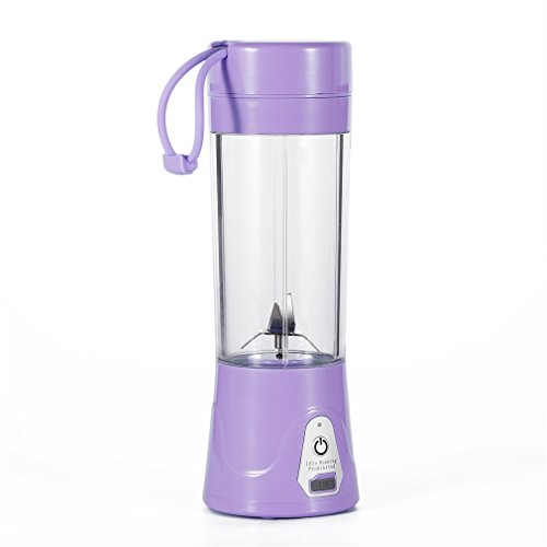 380 Usb (Portable Juice Blender and Mixer, OUTAD Portable Juicer Juice Extractor Portable Rechargeable Battery USB Charging 380ml Juicer Cup 2000mAh Power with Travel Lid)