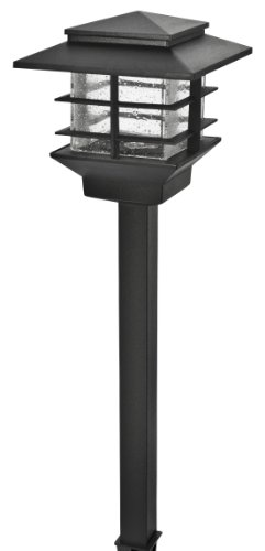 Paradise GL33870BK Low Voltage Cast Aluminum 3-watt LED Path Light, Outdoor Garden Lights, Black