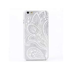YULIN el caso duro del patrón de la flor del paño de la PC para el iphone 6