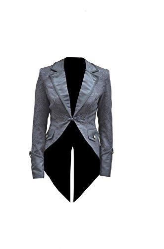 Veste  queue de pie brocard imprim rose pour femme - Pentagramme Noir