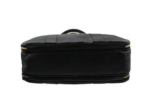 """Aktentasche Umhaengetasche """"Trinity"""" in Schwarz - hochwertig weiches Leder - Made in Italy - Laptoptasche"""