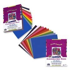 "Pacon Corporation Products - Economy Construction Paper, 12""x 18"", 100/PK, Assorted - Sold as 1 PK - Each assorted pack includes assortment of eight popular colors. Lightweight construction paper is economical and suitable for all kinds of arts and crafts projects. Package includes green, red, black, blue, yellow, pink, white, brown and orange."