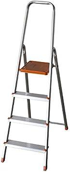 FACAL E4/N - Escalera doméstica, aluminio: Amazon.es: Bricolaje y herramientas