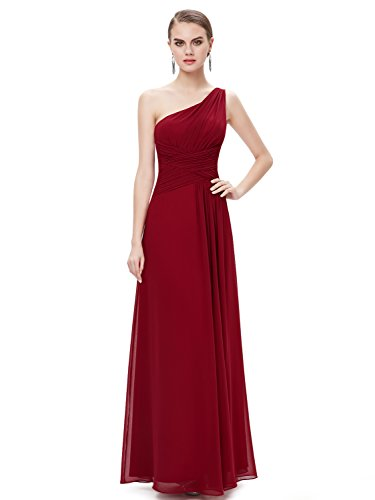 Ever-Pretty Womens Long Chiffon Formal Wedding Guest Dress 14 US Red