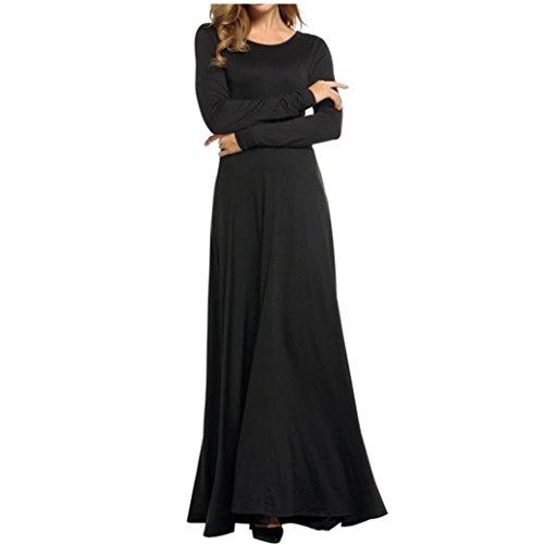 Bekleidung Longra Damen lange Ärmel Elegante Abendkleider Party Ball ...