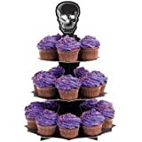 Wilton 1512-135 Halloween Skull Cupcake Stand, 1 Count