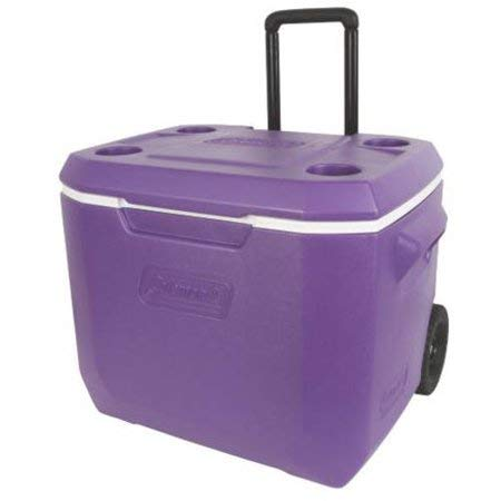 Coleman 50-Quart Xtreme 5-Day Heavy-Duty Cooler with Wheels, Purple by Coleman