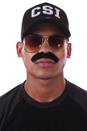 Enimay Western 3 Piece Law Halloween Pretend Costume Hat Moustache Aviator Sunglasses CSI