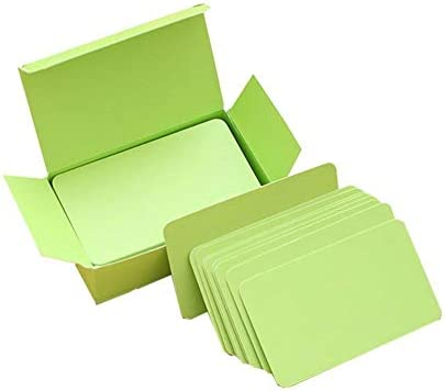 RedSuns 100 Stück/Set verdicktes, doppelseitiges Blanko-Papier, für DIY-Geschenke, Einladungen, handgeschriebene Nachrichten, Memo-Karte, weiß Größe S weiß
