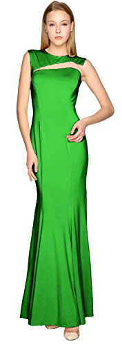 Prom out Sheath Evening Cut Party Formal Green Simple Dress Jersey Gown MACloth ftqYw