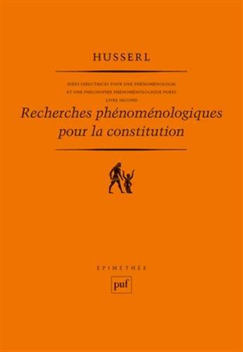 Recherches phénoménologiques pour la constitution Broché – 1 septembre 1996 Edmund Husserl Eliane Escoubas 2130369863 749782130369868