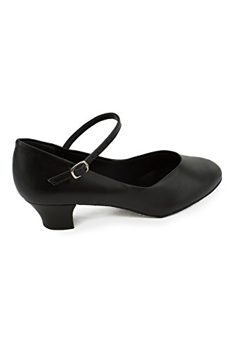 So Danca CH 791Character Shoes Suede Sole Dance Shoes Width Leather Heel 4cm Black qgObcBE