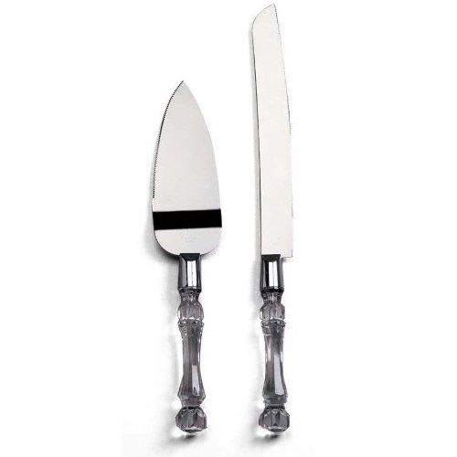 UPC 795410341484, Generic Knife and Server Set Faux Crystal