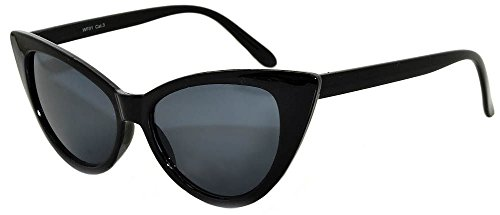 Stylish Fashion Vintage Cat Eye Smoke Lens Sunglasses Black - Smoke Black Cat