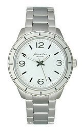 Kenneth Cole New York KC4887 3-Hand Silver Tone Womens Bracelet Watch